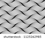 the geometric pattern with wavy ... | Shutterstock .eps vector #1125262985