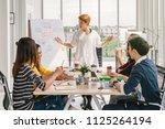 asian businesswoman presenting...   Shutterstock . vector #1125264194