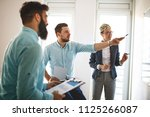 creative business team working... | Shutterstock . vector #1125266087