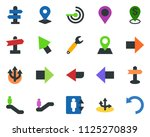 colored vector icon set  ... | Shutterstock .eps vector #1125270839