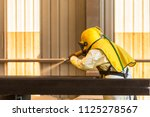 sand blasting process ...   Shutterstock . vector #1125278567