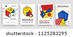 retro geometric bauhaus ... | Shutterstock .eps vector #1125283295
