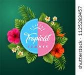 vector illustration of tropical ... | Shutterstock .eps vector #1125283457