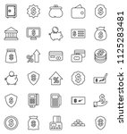 thin line vector icon set  ... | Shutterstock .eps vector #1125283481