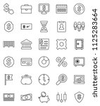 thin line vector icon set  ... | Shutterstock .eps vector #1125283664