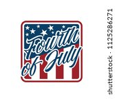 american independence day 4th... | Shutterstock .eps vector #1125286271