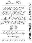 elegant calligraphy letters...   Shutterstock .eps vector #1125286979