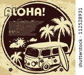 aloha bus background | Shutterstock .eps vector #112528931