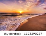 landscape of  tropical island...   Shutterstock . vector #1125290237