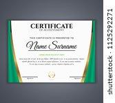 certificate template in vector...   Shutterstock .eps vector #1125292271