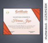 certificate template in vector...   Shutterstock .eps vector #1125292304