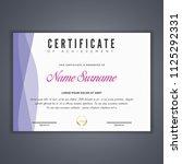 certificate template in vector...   Shutterstock .eps vector #1125292331