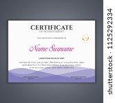 certificate template in vector...   Shutterstock .eps vector #1125292334