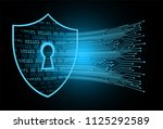 safety concept  closed padlock... | Shutterstock .eps vector #1125292589