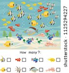 how many different sea fishes.... | Shutterstock .eps vector #1125294227