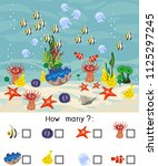 how many different underwater... | Shutterstock .eps vector #1125297245