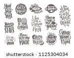 romantic lettering written with ... | Shutterstock .eps vector #1125304034