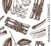 vector hand drawn background ... | Shutterstock .eps vector #1125304421