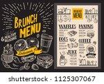 brunch menu for restaurant....   Shutterstock .eps vector #1125307067