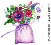 watercolor illustration ... | Shutterstock . vector #1125310844