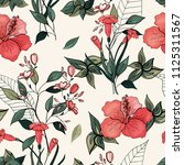 trendy floral pattern. isolated ... | Shutterstock .eps vector #1125311567