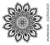 mandala vector illustration.... | Shutterstock .eps vector #1125311615
