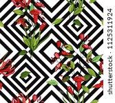 blossom floral seamless pattern....   Shutterstock .eps vector #1125311924
