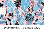 colorful botanical seamless... | Shutterstock .eps vector #1125312227
