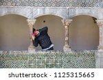 sintra  portugal  april 5  2018 ... | Shutterstock . vector #1125315665
