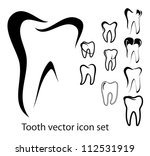 set of 10 different tooth...