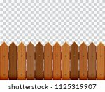 picket fence  wooden textured ... | Shutterstock .eps vector #1125319907
