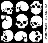 background of several skulls in ... | Shutterstock .eps vector #1125320465