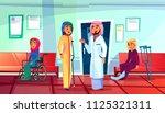muslim doctor and patient... | Shutterstock .eps vector #1125321311