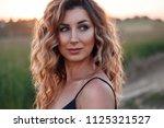 portrait of a beautiful russian ...   Shutterstock . vector #1125321527