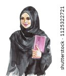 hand drawn arabian business... | Shutterstock . vector #1125322721