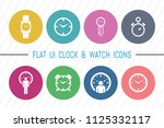 flat ui 8 color watch   clock...