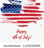 usa independence day background.... | Shutterstock . vector #1125332504