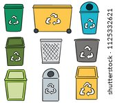 vector set of recycle garbage | Shutterstock .eps vector #1125332621