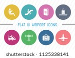 flat ui 8 color airport icon...