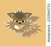 paper sticker on theme evil... | Shutterstock .eps vector #1125341711