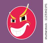 paper sticker on theme evil... | Shutterstock .eps vector #1125342191