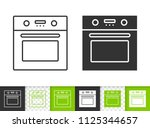 oven black linear and... | Shutterstock .eps vector #1125344657