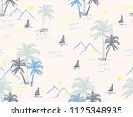 beautiful botanical vector... | Shutterstock .eps vector #1125348935