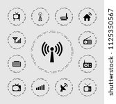 antenna icon. collection of 13... | Shutterstock .eps vector #1125350567
