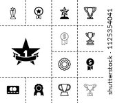 reward icon. collection of 13... | Shutterstock .eps vector #1125354041