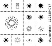 sunlight icon. collection of 13 ... | Shutterstock .eps vector #1125354767