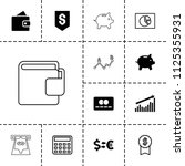 economy icon. collection of 13... | Shutterstock .eps vector #1125355931