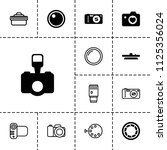 photographic icon. collection... | Shutterstock .eps vector #1125356024