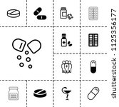 cure icon. collection of 13... | Shutterstock .eps vector #1125356177