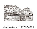 the potala palace in lhasa ... | Shutterstock .eps vector #1125356321